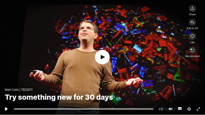 Video: Try something new for 30 days