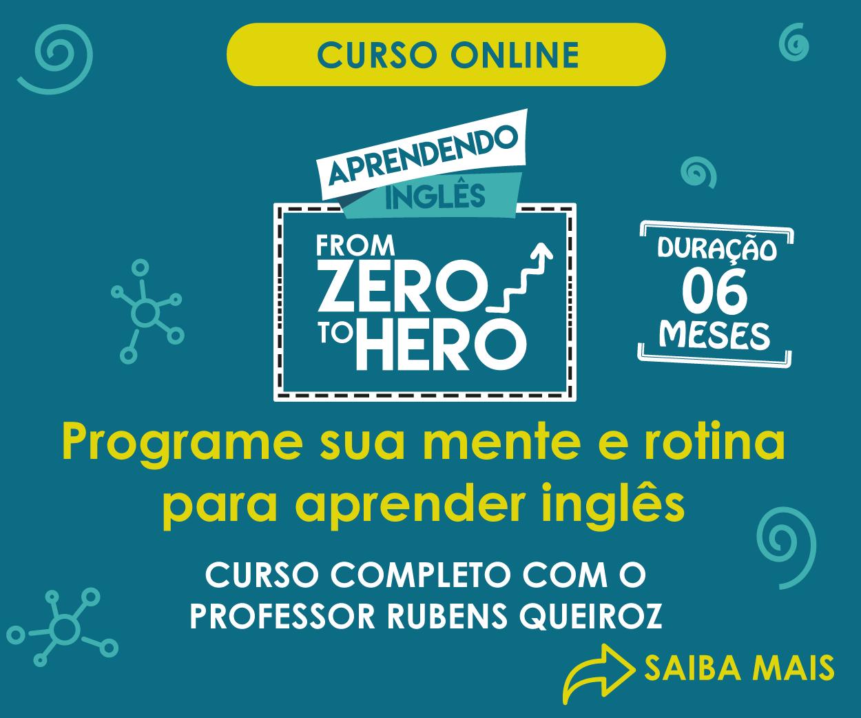 Curso From Zero to Hero: Inscrições Abertas